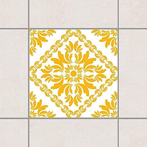 Fliesenaufkleber - Vera Rosa White Melon Yellow 20cm x 20cm, Setgröße:20teilig