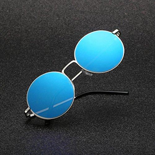 UV Sunglasses metallica Occhiali Rotondi Cornice Sole Rawdah Protezione Vintage Uomo Eyewear classici Circolari G e Retro Donna per da q4qn7Cw1