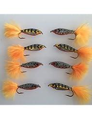 BestCity Fliegenfischen Super Glo Bug Egg Fliegen f/ür Forelle Hecht 20 St/ück #66B
