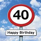 Twizler Geburtstagskarte mit Straßenschild-Motiv zum 40sten Geburtstag
