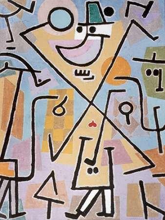 Impresión de Arte Fino en lienzo : Caprice in February by Klee, Paul - Medio (106 x 140 Cms)