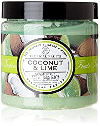 Tropical Fruits Coconut & Lime Sugar Scrub 550g | Exfoliating Body Scrub Sugar Scrub 550g | Exfoliating Scrub | Sugar Scrub | Sugar Body Scrub | Body Exfoliator | Body Scrub Exfoliator