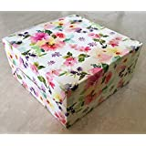 RELIABLE PACKAGING WHITE FLORAL CAKE BOX for 1kg cake - pack of 8