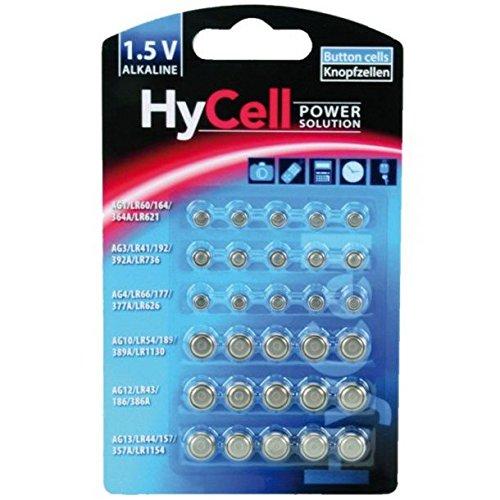 Ansmann hycell batteria a bottone, nero
