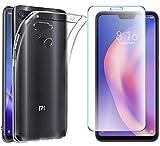 AOBOK [2 Pezzi], Cover per LG V50 ThinQ, Pellicola Vetro Temperato per LG V50 ThinQ, Custodia Gel Trasparente Morbida Silicone Sottile TPU Case per LG V50 ThinQ Smartphone