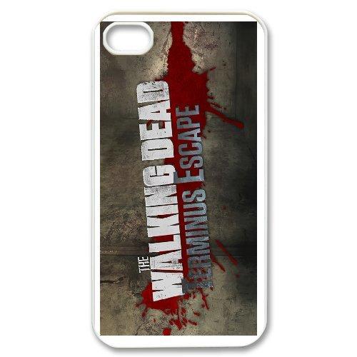 Personalised iPhone 4 4s Full Wrap Printed Plastic Phone Case The Walking Dead Apple Iphone 4s Att 16gb