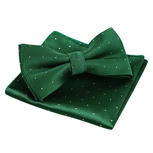 Enjoymore Herren Fliege Grün Dunkelgrün onesize (Bow Tie Green)