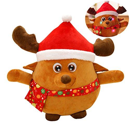 Bestoyard renna natale in peluche con luce e musica per giocattoli per bambini da natalizie 55cm