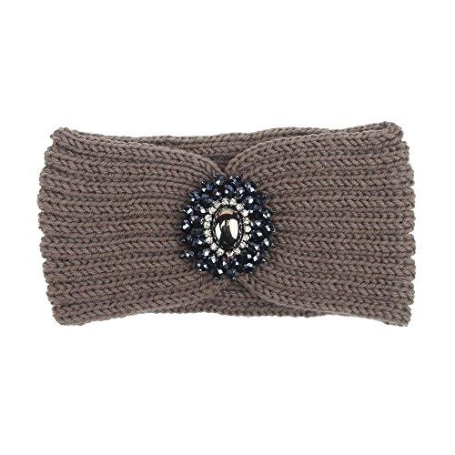Beonzale Frauen-Strickendes Stirnband Handgemacht Halten Warmes Hairband Wunderschön Stirnband Sport Elastic Turban Haar Zubehör (Medaillons In Haar Zu Halten)