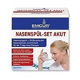 Emcur ® Emsan Nasenspülset Akut 20 Dosierbeutel Nasenspüler Nasendusche  Nasenspülsalz Natürliche Hilfe bei Erkältung und Allergien | auch für Kinder geeignet | Nasenspülkanne, Nasen-kanne, Nasen-spülung, Nase Spül-kanne