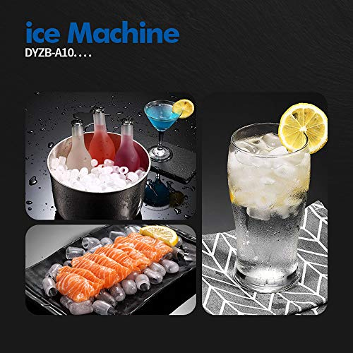 51TAtqsgeSL. SS500  - Rong Ice Machine - Fully Automatic Home/Commercial/Desktop/Portable/No Pipe/Fast Ice Machine, Daily Output 25kg, 220v…
