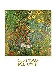 Gustav Klimt Bauerngarten mit Sonnenblumen (mit Schrift) Poster Kunstdruck Bild 30x24cm - Germanposters