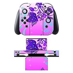 Disagu SF-sdi-5542_386 Design Skin/Folie für Nintendo Switch/Controller/Dockingstation – Motiv Pink Flowers klar