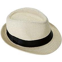 Faleto Enfant Chapeau de Paille Chapeau d été tricoté à la Main ciselé  Unisexe Classique 50aa89f1dae