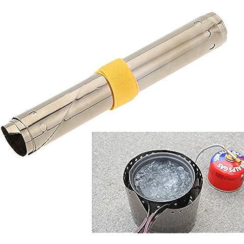 syalex (TM) 1pc titanio ultraligero al aire libre Camping estufa viento Escudo Ultra-thin resistente al viento viento protector de placa altura 15cm 19cm, 19cm Height