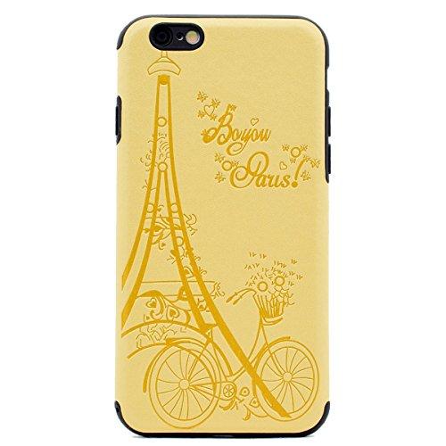 """inShang Hülle für iPhone 7 4.7"""" ,Ultra Schlank und leicht TPU Bequem Schutzhülle Rückcover (Back Case) design für Handy iPhone7 4.7 inch, Yellow tower"""