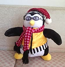Euphony Penguin Stuffed Doll with Scarf Vest Glasses (40 cm)