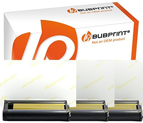 Foto-Papier + Patrone kompatibel zu Canon Selphy KP-108IN KP-108IP CP1200 CP1000 CP910 ES1 ES2 CP200 (100x148mm)