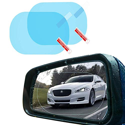 Película de espejo retrovisor para coche, (2 películas) HD Película de protección...