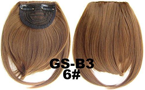 # 6 100% fibre synthétique haute température Clip dans/sur cheveux avant frange frange cheveux