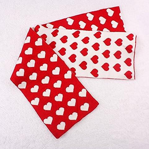 Autunno e inverno del bambino di lavoro a maglia di lana doppio spessore sciarpe calde bambini , red