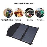 BlackPJenny Sacchetto di ricarica pieghevole USB per pannello solare portatile 5V 2A 12W ad alta efficienza (Colore: nero)