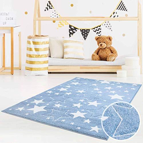 MyShop24h Alfombra Alfombra Infantil Parte Habitaciones-Estrella