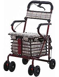 ZR Carritos de Compras Plegables multifunción, Carrito de usos múltiples, Scooter Helper Puede Sentarse