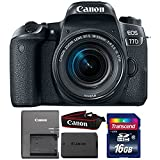 #9: Canon Eos 77D 24.2MP DSLR Camera with 18-55mm is STM Lens and 16GB Memory Card