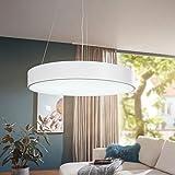 FineBuy LED-Deckenleuchte RONDO rund Metall weiß EEK A+ Büro-Deckenlampe 92 Watt Ø 60 cm | Design Arbeitsplatz Hängelampe 7820 Lumen kaltweiß ohne Schirm | Office Pendellampe IP20