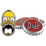 The Simpsons Duff Untersetzer Set mit Flaschenöffner