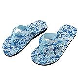 UFACE Slipper Lady Camo Flip Flops Schuhe Sandalen Slipper Indoor & Outdoor Flip-Flops (37, Glas Blau)