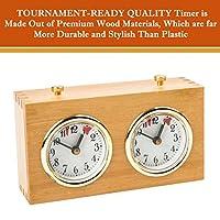 Professionelle-Analoge-Holz-Schachuhr-Zeitmesser–Zum-Aufziehen-keine-Batterien-ntig-von-BetterLine