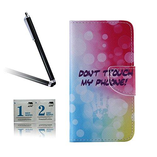 ARTLU® BQ Aquarius M5.0 Taschen Schalen PU Leder Tasche Schutzhülle Hülle Handy Etui Schale mit Ständerfunktion und Kreditkartenfächer für BQ Aquaris M5 (5.0 inches)A02