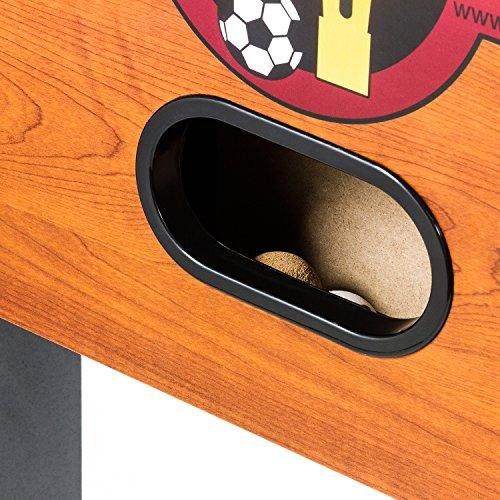 Tuniro Tischfussball Rustic V Advance Serie Hohlstangen BTFV Zertifiziert, 70 kg, 20060104 -