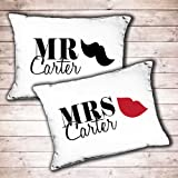 Best Bridal Gifts - Personalised Mr and Mrs wedding gift pillowcase set Review