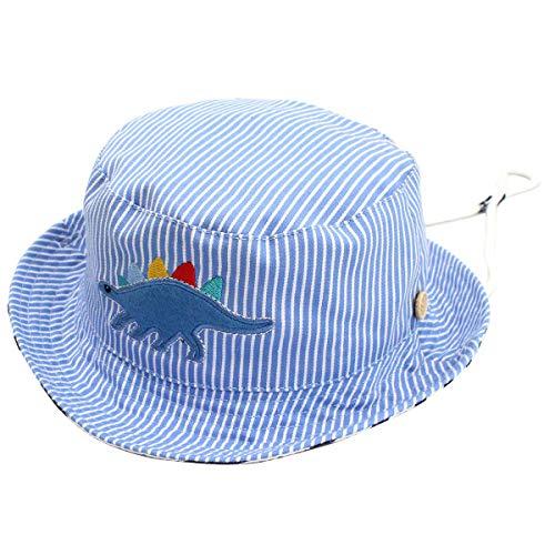 Happy Cherry - Gorro de Verano para Niños Ninas Sombrero de Pescador Bucter Hat Infantil de Algodón para Piscina Playa - 50CM/2-3Años