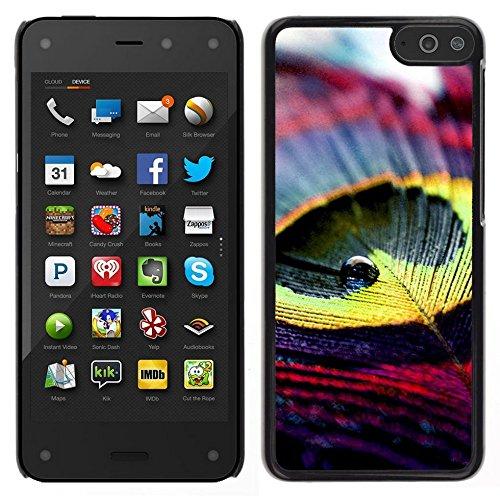All Phone Most Case / Carino Immagine Rigida Custodia Duro protettiva Caso Cellulare Cassa / Hard Case for Amazon Fire Phone // Peacock Feather Bella Yellow Bird