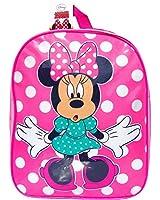 Girl's Pink Polka Dot Disney Minnie Mouse School Backpack Shoulder Bag