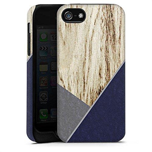 Apple iPhone X Silikon Hülle Case Schutzhülle Holz Modern Trend Tough Case matt