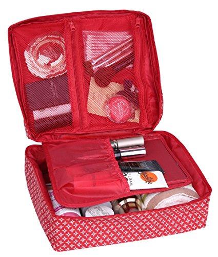 Hxhome Trousse de toilette Trousse à maquillage rouge red taille unique