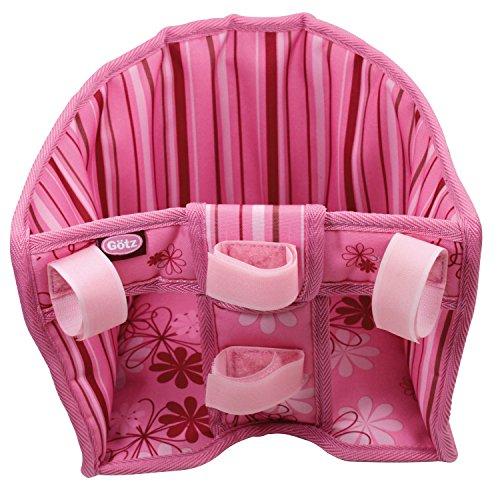 Götz 3401927 Blümchen Fahrradsitz - Puppenzubehör für alle Puppen von 27 cm bis 50 cm egal ob Babypuppe oder Stehpuppe (Kleidung Dress Me)