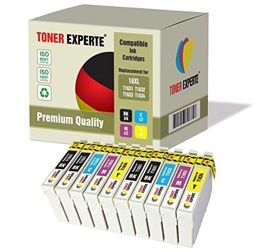 Kit 10 XL TONER EXPERTE Cartucce d'inchiostro compatibili con Epson 16XL Workforce WF-2010W, WF-2510WF, WF-2520NF, WF-2530WF, WF-2540W, WF-2540WF, WF-2630WF, WF-2650DWF, WF-2660DWF, WF-2750DWF