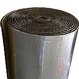 TEEPAO Tapis Anti-Bruit en Fibre de Verre pour Moteur/Toit/fenêtre, Panneaux en Mousse Isolante pour Isolation phonique 5 mm, résistant à l'humidité, Ignifuge, 50cm*200cm