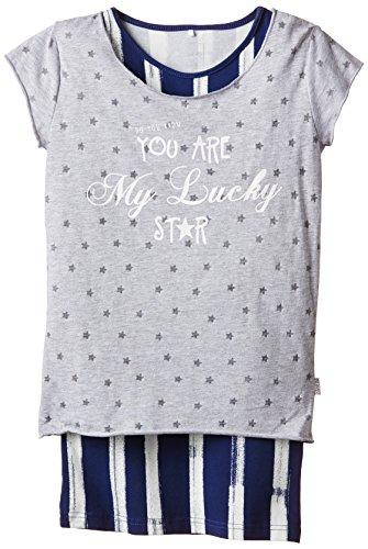 NAME IT Mädchen T-Shirt 13117428, Gr. 122 (Herstellergröße: 122-128), Mehrfarbig (Estate Blue)