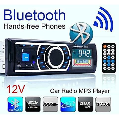 Coche Bluetooth Stereo Audio, POTOVBrand, en el tablero FM Aux entrada receptor SD USB MP3 Radio juego mecanismo