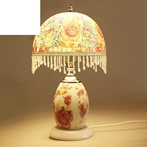 Dual-lamp/Nightlight/Die Glaslampe/Schlafzimmer Nachttisch Lampen/Minimalistische Schlafzimmer Nachttischlampe/Prinzessin Mädchen Zimmer Lampen (Dual-sockel-leuchte)