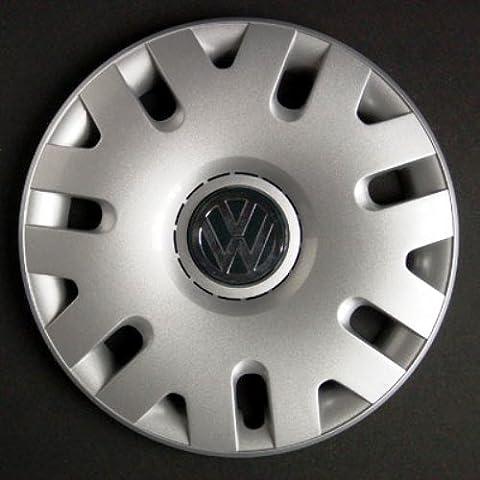 Set de cuatro embellecedores nuevos para Volkswagen Golf 4 / Golf 6 / Polo 4 / Fox / New Jetta / Touran / Tiguan / Passat 5 / New Beetle / Caddy con llantas originales de