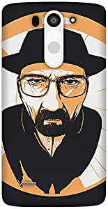 The Racoon Lean The One who Knocks hard plastic printed back case / cover for LG G3 Beat