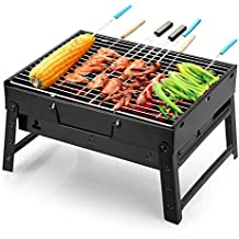 Uten Barbacoa Portátil de Acero Inoxidable BBQ de Carbón con Rejilla Portátil Plegable Mini Barbecue de